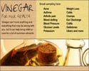 Thumbnail Healthy Vinegar- Practical uses and treatments