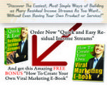 Thumbnail Quick & Easy Residual Income Streams Guide