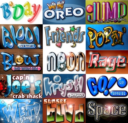 Product picture 15 Photoshop Action Scripts- Font Effects
