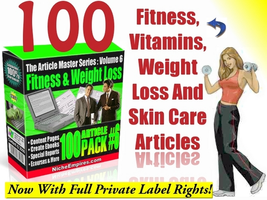 Product picture 100 Professional Weight Loss, Fitness, Skin Care, Vitamins Articles