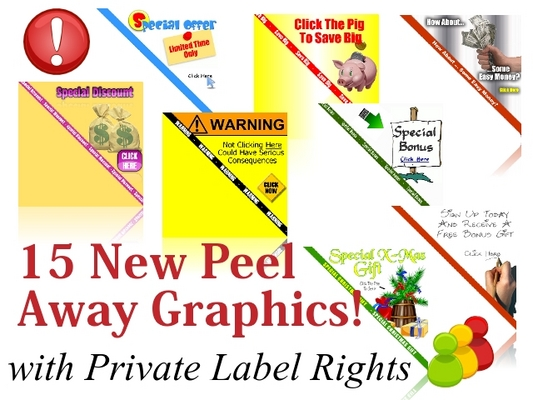 Product picture 15 New Peel Away Website Graphics!