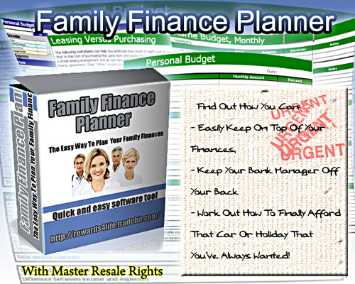 Product picture The Easy Way To Plan Your Family Finances