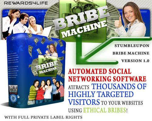 Product picture Amazing StumbleUpon Bribe Machine Version 1.0