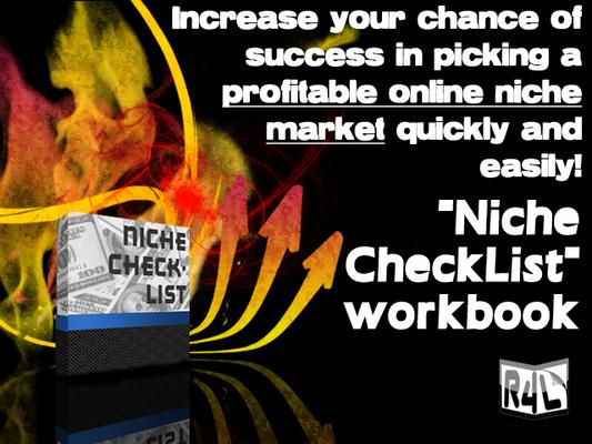 Product picture Niche Checklist workbook