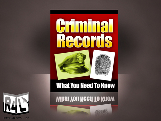 Product picture Criminal Record Information Guide